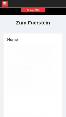 Vorschau der mobilen Webseite www.zumfeuerstein.de, Restaurant Zum Feuerstein