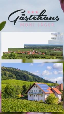 Vorschau der mobilen Webseite www.gaestehaus-jaeger-weyher.de, Gästehaus Jäger