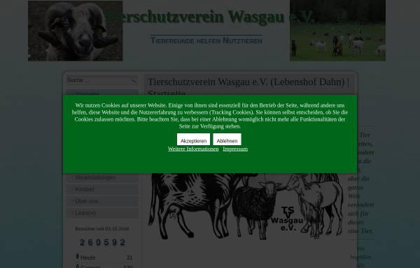 Vorschau von www.tsv-wasgau.de, Tierschutzverein Wasgau e. V. - Gnadenhof und Pflegestelle Dahn