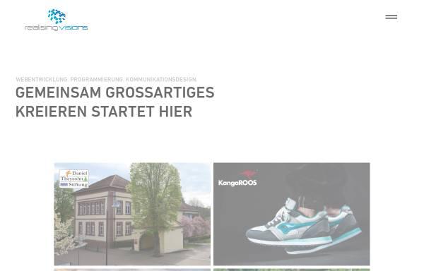 Vorschau von www.realisingvisions.com, Realising Visions - Webdesign Full Service Agentur