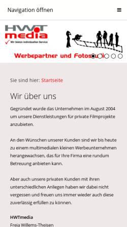Vorschau der mobilen Webseite www.hwtmedia.de, HWTmedia Inh. Hermann Willems-Theisen