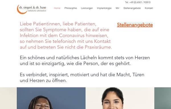 Vorschau von www.zahnarzt-konz.de, Zahnärztliche Gemeinschaftspraxis Dr. Siegert & Dr. Hase