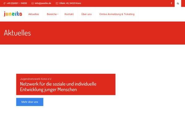 Vorschau von www.junetko.de, Jugendnetzwerk Konz e.V. - Haus der Jugend