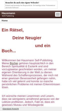 Vorschau der mobilen Webseite hausmann-verlag.beepworld.de, Christiane Hausmann Berlin