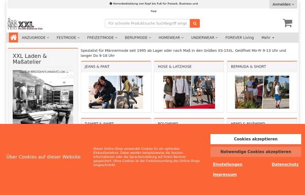 Vorschau von www.the-big-gentleman-club.com, The BIG Gentleman Club
