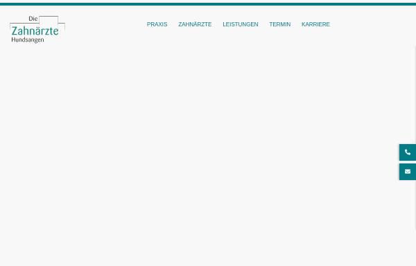 Vorschau von www.zahnaerzte-hundsangen.de, Praxis für Zahnmedizin Dr. Joachim Schmidt | Dr. Susanne Friedrich | Dr. Johannes Schmidt