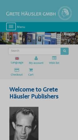 Vorschau der mobilen Webseite www.gh-verlag.de, Grete Häusler Verlag