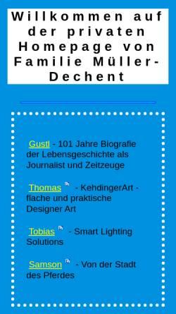Vorschau der mobilen Webseite www.mueller-dechent.de, Gustl-Müller-Dechent Verlag