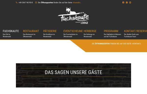 Vorschau von fuchskaute-lodge.de, Fuchskaute Lodge GmbH