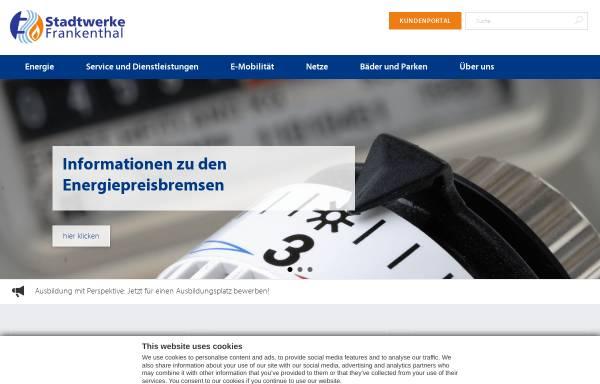Vorschau von www.stw-frankenthal.de, Stadtwerke Frankenthal GmbH