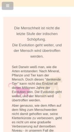 Vorschau der mobilen Webseite evolutionsforschung.org, Institut für Evolutionsforschung