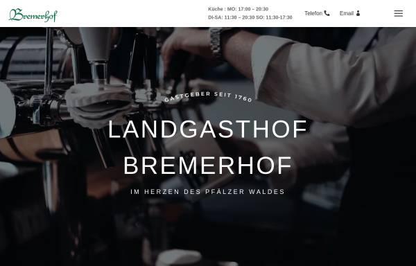 Vorschau von www.bremerhof-kl.de, Hotel-Restaurant Bremerhof