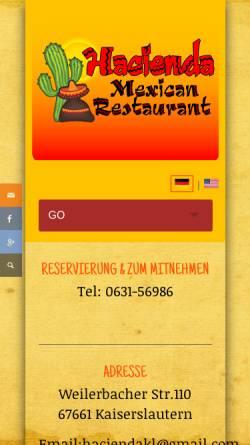 Vorschau der mobilen Webseite de.hacienda-kl.com, Hacienda