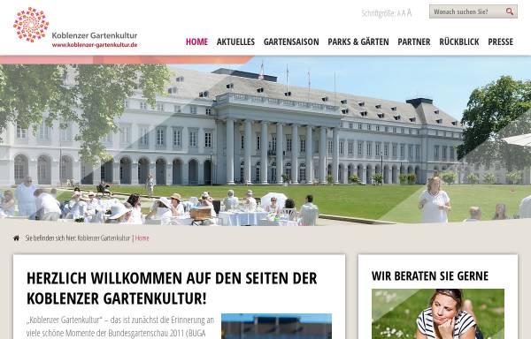 Vorschau von www.koblenzer-gartenkultur.de, Koblenzer Gartenkultur