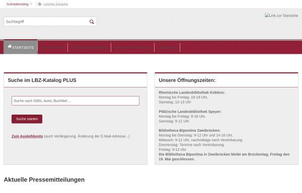 Vorschau von lbz.rlp.de, Landesbibliothekszentrum Rheinland-Pfalz