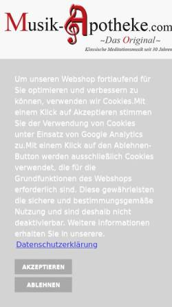 Vorschau der mobilen Webseite www.musik-apotheke.com, Musik-Apotheke