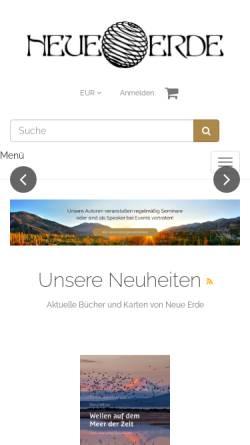 Vorschau der mobilen Webseite www.neueerde.de, Neue Erde Verlag