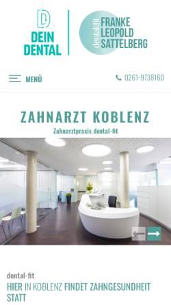 Vorschau der mobilen Webseite www.dental-fit.de, Franke-Leopold-Sattelberg / dental:fit