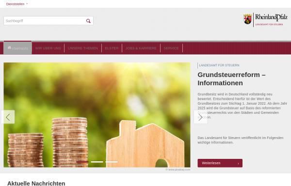Vorschau von www.lfst-rlp.de, Landesamt für Steuern