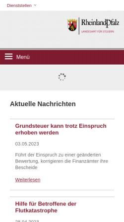 Vorschau der mobilen Webseite www.lfst-rlp.de, Landesamt für Steuern