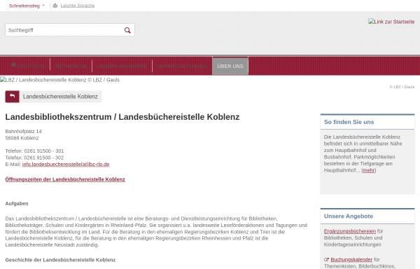 Vorschau von lbz.rlp.de, Landesbibliothekszentrum / Landesbüchereistelle Rheinland-Pfalz, Koblenz
