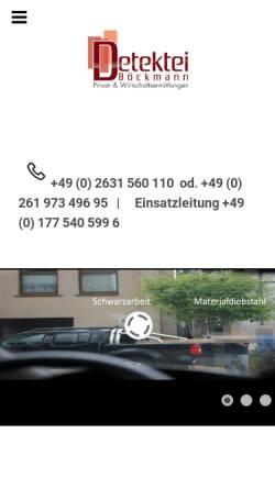 Vorschau der mobilen Webseite www.detektei-boeckmann.de, Detektei Böckmann, Inh. Guido Böckmann