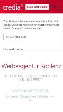 Vorschau der mobilen Webseite www.werbeagenturkoblenz.com, Attractice - Werbeagentur Koblenz, Natascha Geibel