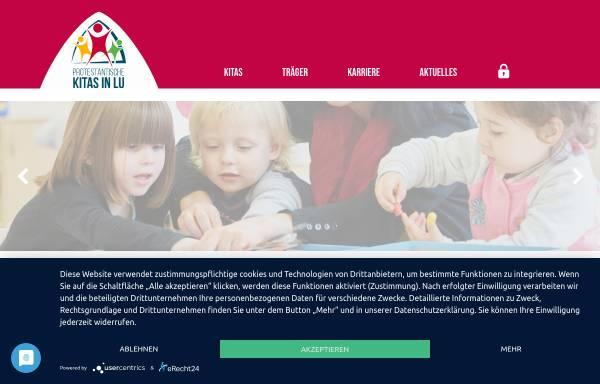 Vorschau von www.evkirchelu.de, Kindertagesstätten der ev. Kirche