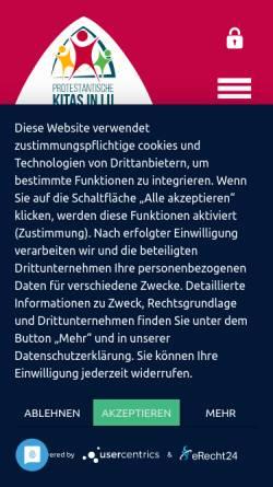Vorschau der mobilen Webseite www.evkirchelu.de, Kindertagesstätten der ev. Kirche