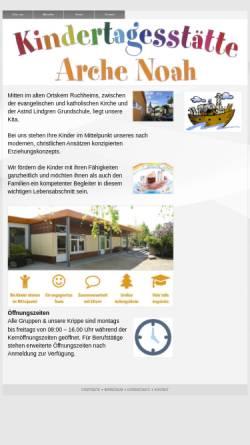 Vorschau der mobilen Webseite kiga-ruchheim.de, Arche Noah Ruchheim