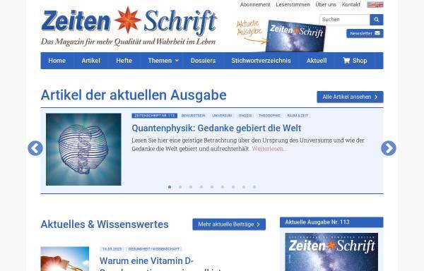 Vorschau von www.zeitenschrift.com, Zeitenschrift Verlag