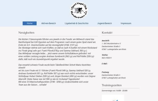 Vorschau von skc-mundenheim.de, 1. SKC Mundenheim