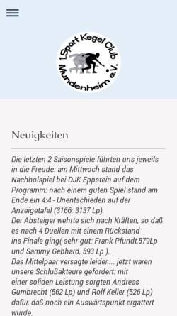 Vorschau der mobilen Webseite skc-mundenheim.de, 1. SKC Mundenheim