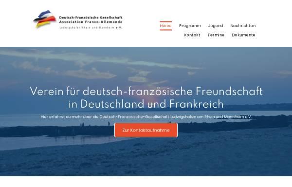Vorschau von www.dfg-lu-ma.de, Deutsch-Französische Gesellschaft Ludwigshafen am Rhein/Mannheim e.V.