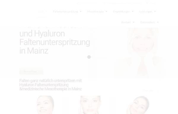 Vorschau von www.falten-unterspritzen-mainz.de, Praxis für Faltenunterspritzung und Mesotherapie