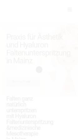 Vorschau der mobilen Webseite www.falten-unterspritzen-mainz.de, Praxis für Faltenunterspritzung und Mesotherapie