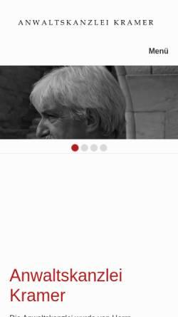 Vorschau der mobilen Webseite www.ra-lk.de, Kanzlei Rechtsanwalt Lutz Kramer