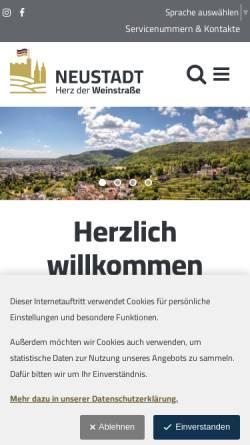 Vorschau der mobilen Webseite www.neustadt.eu, Neustadt an der Weinstraße