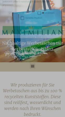 Vorschau der mobilen Webseite www.maximilian-taschen.de, Maximilian-Taschen