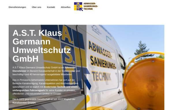 Vorschau von www.ast-info.com, A.S.T. Klaus Germann Umweltschutz GmbH