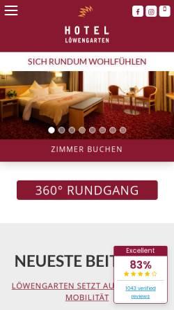 Vorschau der mobilen Webseite www.hotel-loewengarten.de, Hotel Löwengarten