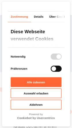 Vorschau der mobilen Webseite boomerangreisen.de, Boomerang Reisen GmbH