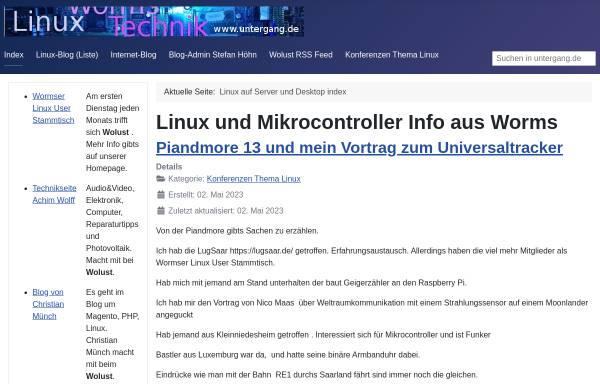 Vorschau von www.untergang.de, Linux und Technik aus Worms