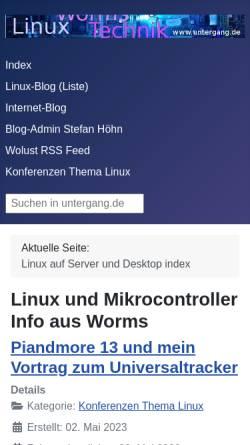 Vorschau der mobilen Webseite www.untergang.de, Linux und Technik aus Worms