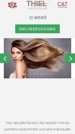Vorschau der mobilen Webseite www.thiel-hair-design.de, Thiel Hair Design UG