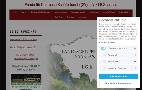Vorschau von www.sv-lg-saarland.de, SV Verein für Deutsche Schäferhunde e.V. LG Saarland
