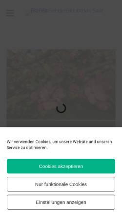 Vorschau der mobilen Webseite www.frauengenderbibliothek-saar.de, FrauenGenderbibliothek