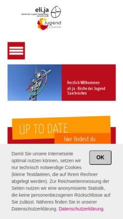 Vorschau der mobilen Webseite www.eli-ja.de, Eli.ja Katholische Kirche der Jugend St. Elisabeth