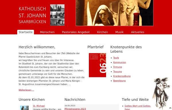 Vorschau von www.pfarrei-st-johann.de, Pfarrei St. Johann Saarbrücken