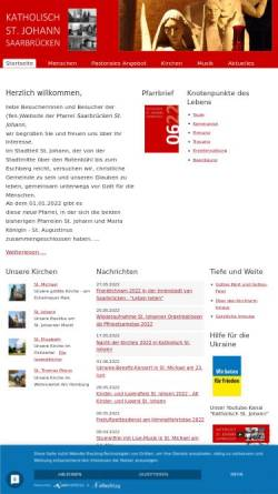 Vorschau der mobilen Webseite www.pfarrei-st-johann.de, Pfarrei St. Johann Saarbrücken